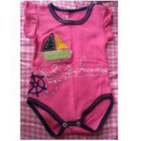 Body Bebê com estampa de barquinho - 3 a 6 meses - Pé de Amor