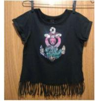Blusinha de mangas curtas, com franjas - 6 anos - Monster High