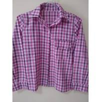 Camisa Xadrez Rosa Charmosa - junina - 7 anos - sem etiqueta