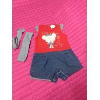 Baby fashion - Macaquinho - 0 a 3 meses - Baby fashion