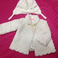 Casaco off white - 12 a 18 meses - Place