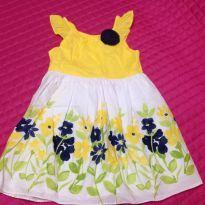 Vestido Florido Tamanho 4 - 4 anos - Não informada