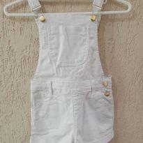 Jardineira branca tamanho 8 - 8 anos - Figurinha