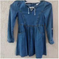 Vestido em Sarja tamanho 6 - 6 anos - Nannette Girl USA