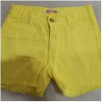 Shorts jeans amarelo tamanho 8 - 8 anos - Tex