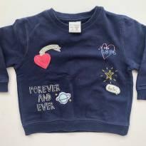 Casaquinho Azul Marinho da Zara Baby - 12 a 18 meses - Zara Baby