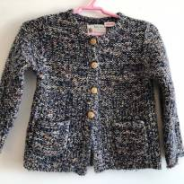 Casaquinho azul de tricot da zara - 18 a 24 meses - Zara