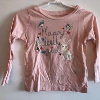 Camiseta Manga Longa Carter`s - 2 anos - Carter`s