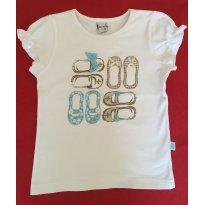 T-Shirt em malha Alphabeto - Tamanho: 3 anos - 3 anos - Alphabeto