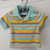 Camisa polo Tommy Hilfiger verde piscina - Tamanho: 18 meses - 18 meses - Tommy Hilfiger