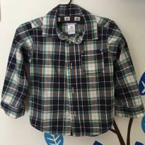 Camisa social azul quadriculada Carter`s - Tamanho: 18 meses - 18 meses - Carter`s
