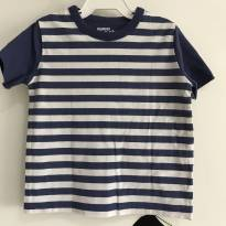 T-shirt listrada azul OshKosh - Tamanho: 2T - 2 anos - OshKosh