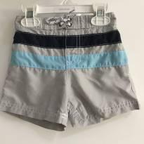 Short praia cinza Carter`s - Tamanho: 18 meses - 18 meses - Carter`s