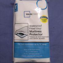 Protetor de colchão solteiro a prova d`água -  - mainstays