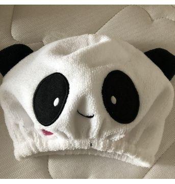 Touquinha Panda de toalha - Sem faixa etaria - Sem Maraca