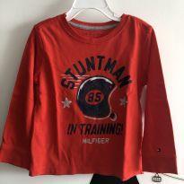 T-shirt manga loga vermelha Tommy Hilfiger - Tamanho: 3 anos - 3 anos - Tommy Hilfiger