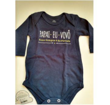 Body da Piu BLUE novo - 3 a 6 meses - Piu Blu