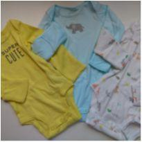 3 body Carter`s Super Cute - Recém Nascido - Carter`s