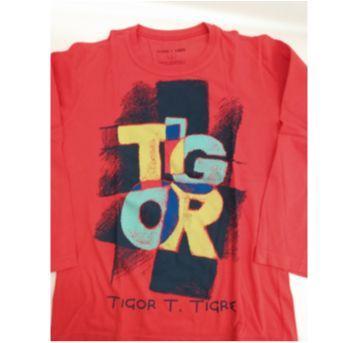 Camiseta Tigor vermelha - 8 anos - Tigor T.  Tigre