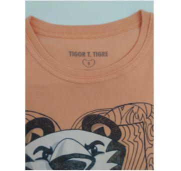 Camiseta Tigor laranja - 6 anos - Tigor T.  Tigre