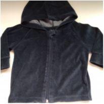 Jaqueta de plush marinho - 6 a 9 meses - Gog Basic