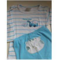 Conjunto Body e calça - 6 a 9 meses - yoyo Baby