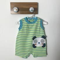 Macaquinho de ursinho sem manga - 3 a 6 meses - Baby fashion