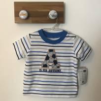 Camiseta listrada Vitamins Baby novinha! - 9 meses - Vitamins Baby