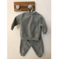 Conjunto em plush cinza, básico e quentinho! - 0 a 3 meses - Boulevard Baby