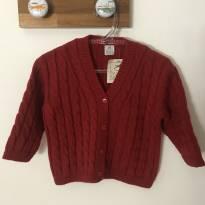 Casaquinho malha tricô vermelho novo! - 9 meses - Salamê Minguê