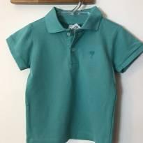 Camiseta polo verde sem uso - 1 ano - Little Boy e Baby Club