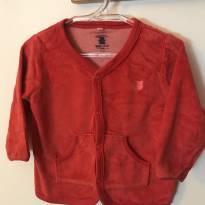 Casaquinho de plush vermelho - 9 a 12 meses - Baby Club