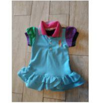 Vestido Moderninho Polo - 6 a 9 meses - Ralph Lauren