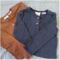 Camiseta manga longa Zara - 12 a 18 meses - Zara e Zara Baby
