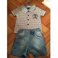 Conjunto Camisa Xadrez - 6 meses - Onda Marinha