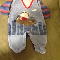 Macacão Aviador - 0 a 3 meses - By Gabriely Baby