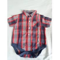 Body x Camisa xadrez - 0 a 3 meses - Baby Club