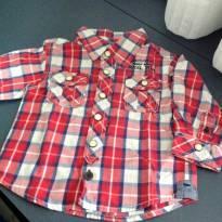 Camisa xadrez vermelha - 3 a 6 meses - Teddy Boom
