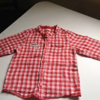 Camisa xadrez vermelha - 9 a 12 meses - Benneton baby