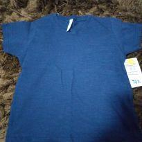 Camiseta básica Marinho - 2 anos - Tex