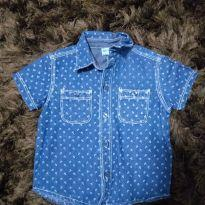 Camisa jeans Âncora - 9 a 12 meses - Baby Way