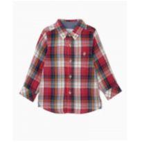 Camisa Algodão Bebê Menino Xadrez Vermelho Zippy Original NOVA - 24 a 36 meses - Zippy baby