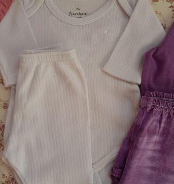 Combo 3 conj body/calça - 0 a 3 meses - Malwee e junkes baby