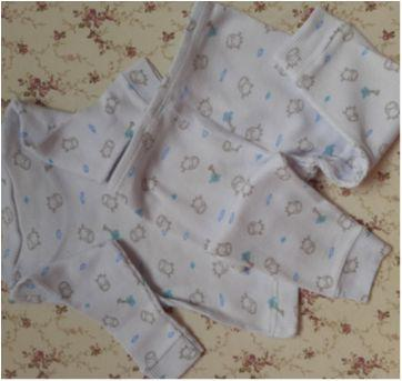 Conjunto canelado unissex P - 0 a 3 meses - yoyo Baby