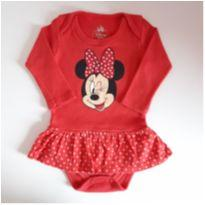 Body da Minnie - 0 a 3 meses - Disney