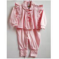 Macacão rosa - 3 a 6 meses - Aconchego do Bebê