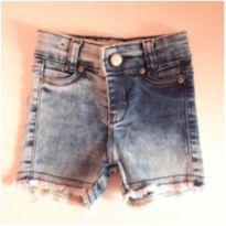 Shorts jeans desfiado - 3 a 6 meses - Megan