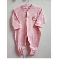 Macacão rosa pé reversível - 3 a 6 meses - Kidstok