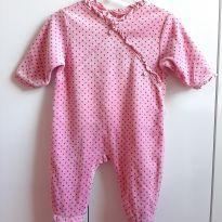 Macacão rosa com estrelas - 0 a 3 meses - Baby Club