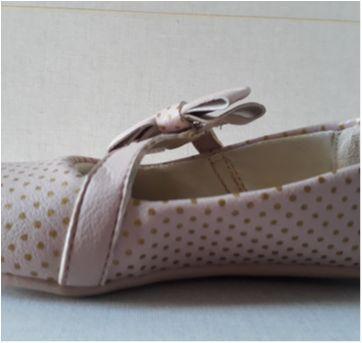 Sapato rosa nude com poá dourado - 24 - FUN SHOES